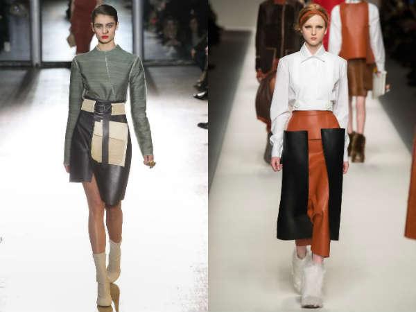 Fall 2016 assymmetrical skirts