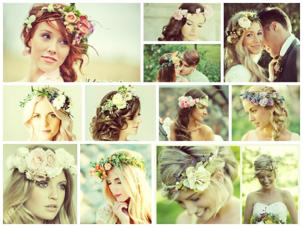 Wedding hairstyles 2016 using flowers