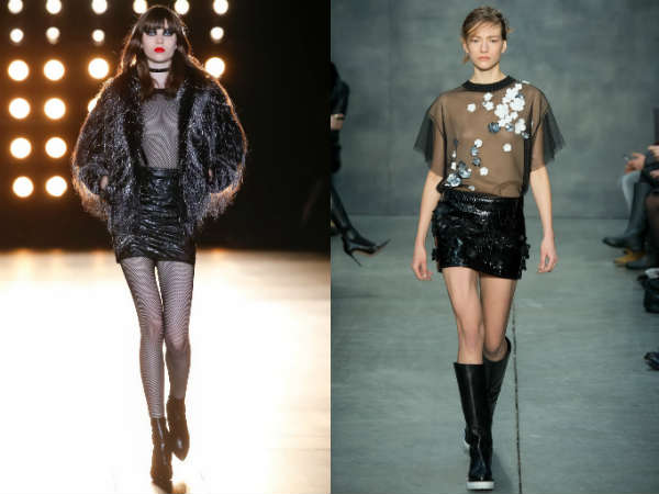 Leather skirts fall 2016 winter 2017