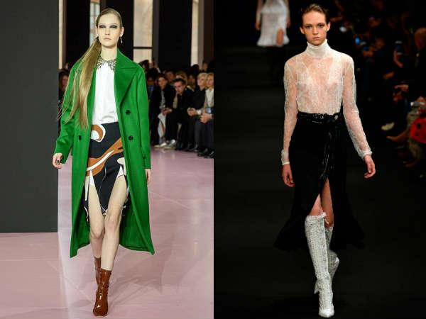 Long skirt with deep slits Fall-Winter 2016 2017