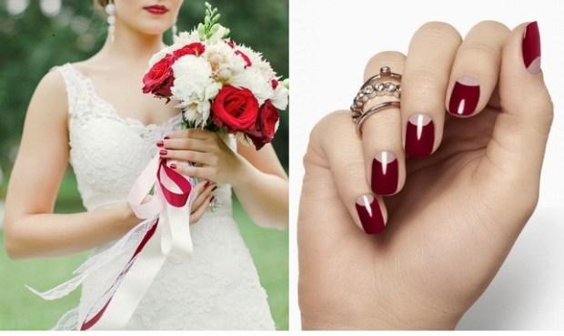 2015 marsala wedding nails