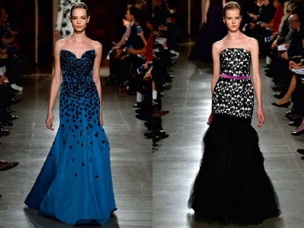 Elegant bared shoulders dress