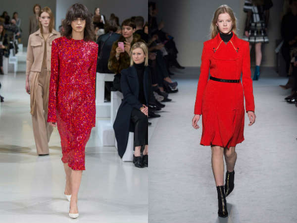 red clothing trends