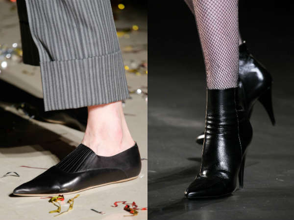 Fall Winter 2016-2016 focus on shoes toe