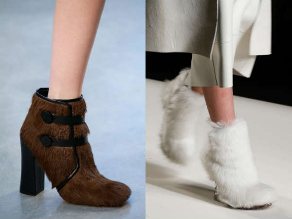 furry thick heel
