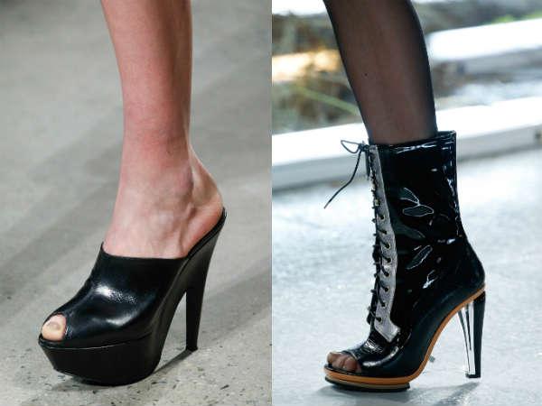 medium heel with focus on toe