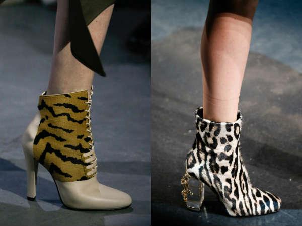 high comfortable heel with trendy print