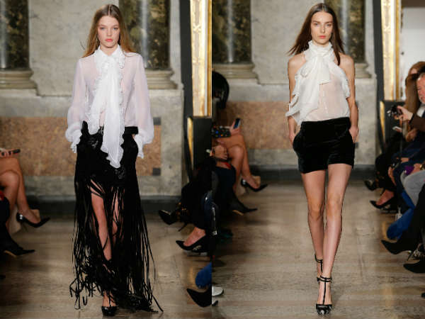 Ruffle front blouses Fall-Winter 2016 2017