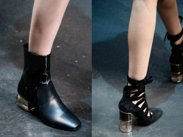 Ankle boots for women with unusual heel 2016 2017