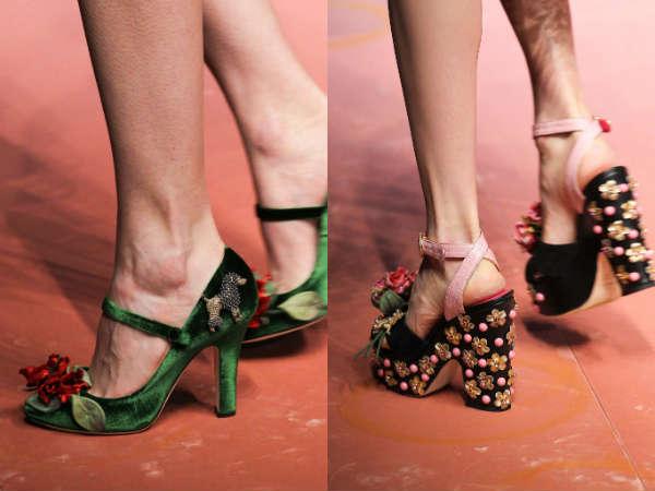 Flowered heel