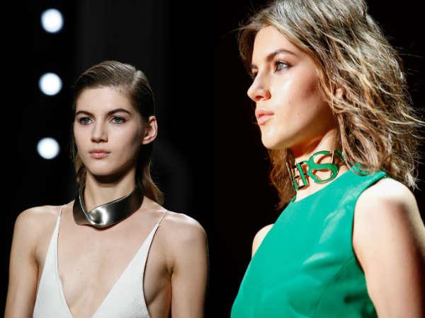 Metallic and plastic necklaces