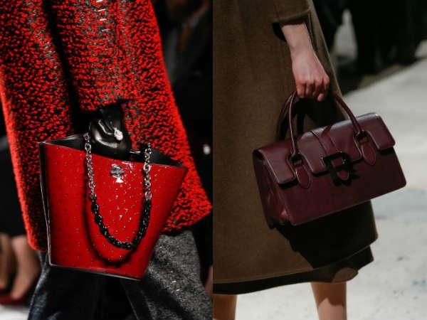 Dark red handbag 2016 2017