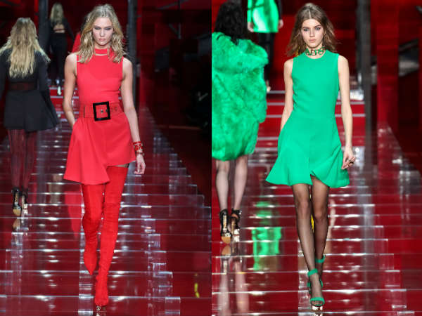 Versace red and green