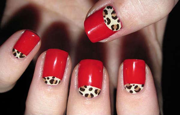 red nail polish design