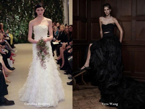 Feather wedding dresses 2017