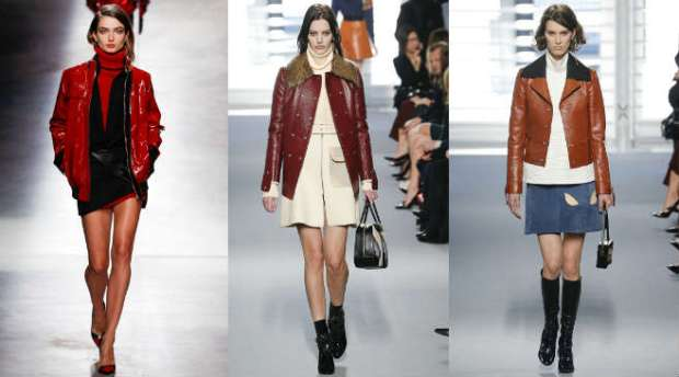 How to wear a leather jacket with skirt and boots
