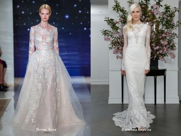 Long sleeved wedding dresses 2017