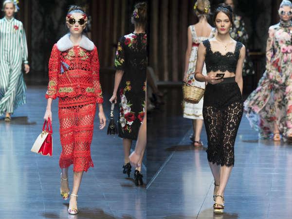Midi elegant perforated skirts