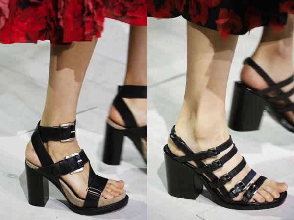 Fashion belted sandals 2017 spring summer