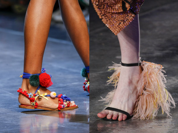 Sandals spring summer 2017: material