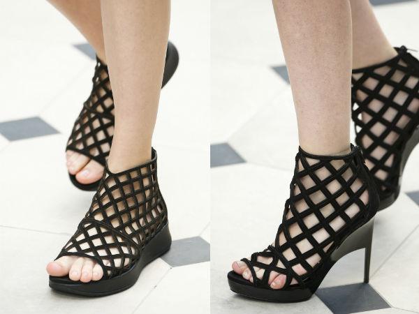 black with platform and heel