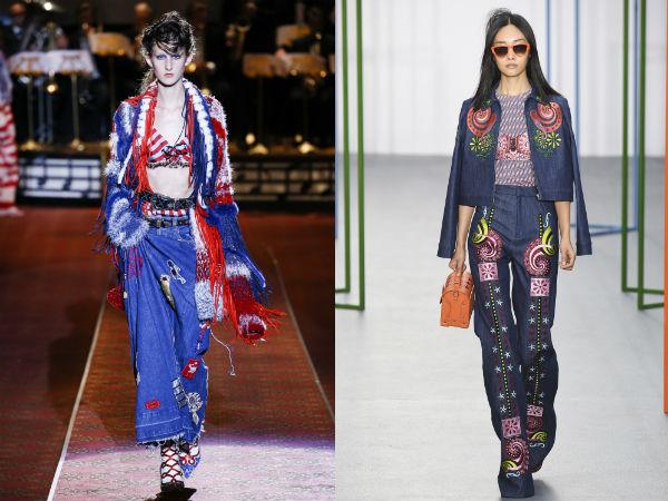 Womens jeans spring-summer 2017: décor elements