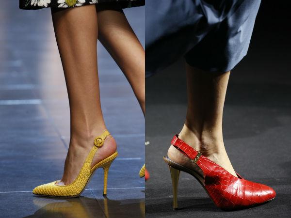 leather high heeled