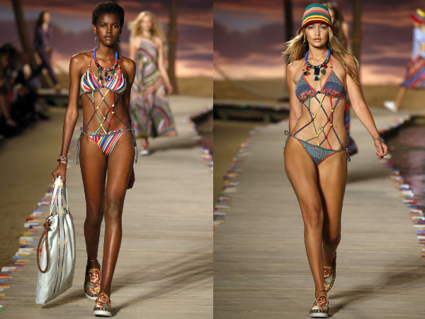 Swimsuits 2017: straps and braids