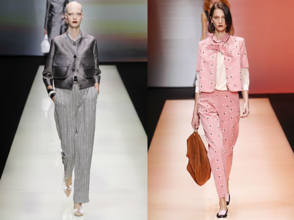 Womens pant suits with short blazers spring summer 2017