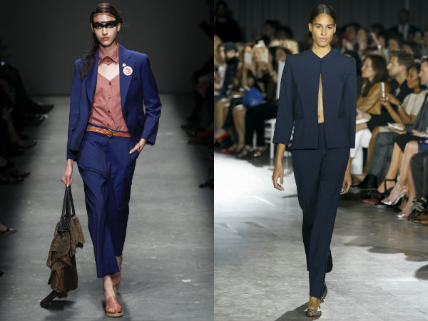 Spring-Summer 2017 women's suits: colors