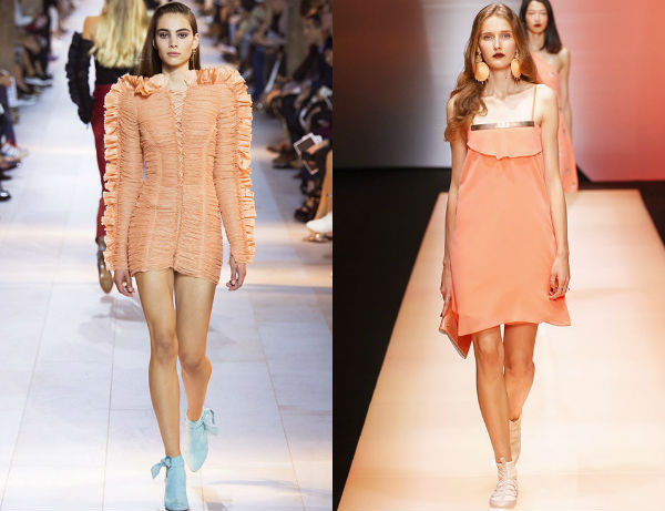 Peach color spring summer 2017