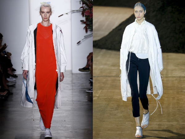 Jackets and trench coats spring summer 2017: colors