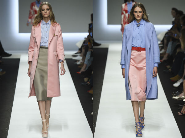 Elegant raincoats in pastel colors