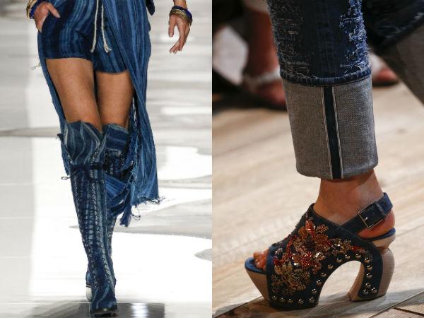 Denim footwear
