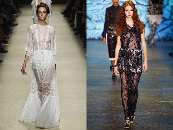 Transparent dresses