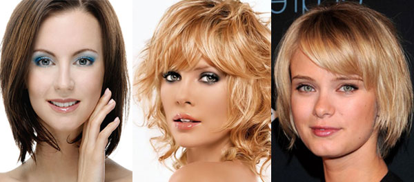 Hairstyle for square face and short hair
