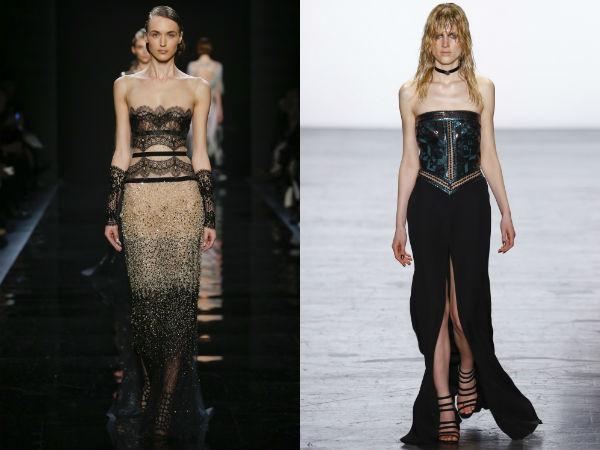 Evening dresses 2017 bared shoulders