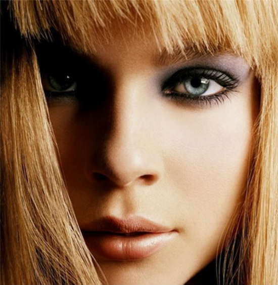Makeup for gray eyed blondes