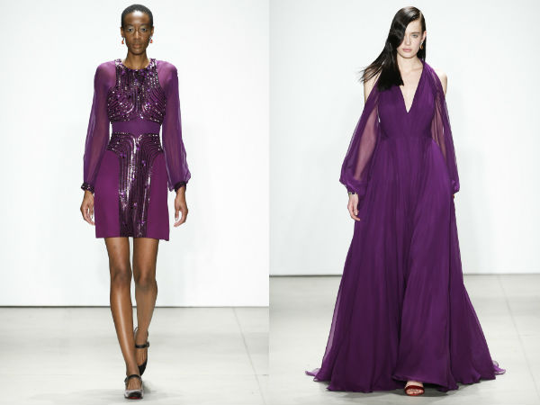 What colors of evening dresses to wear in Fall 2018