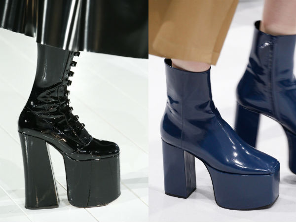 Footwear with platform and heel