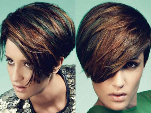 Easy hairstyles for short hair with bangs