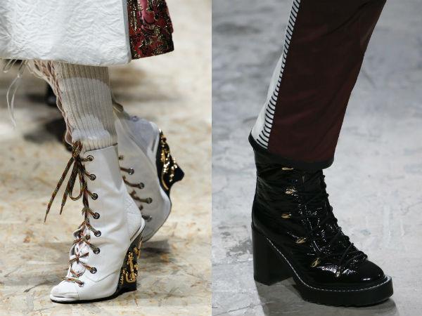 Laced women footwear