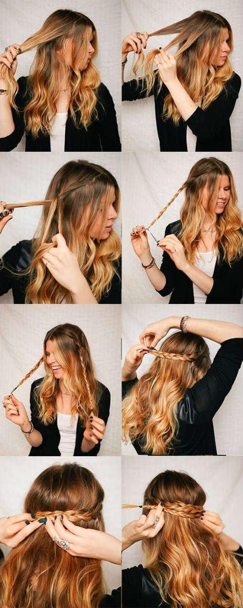 Simple braids for long hair