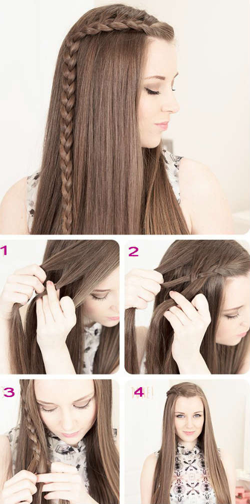 Side braid Easy hairstyles for long hair