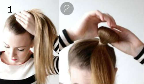 Easy hair bow hairstyle