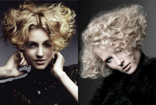 Evening short curly hairstyles