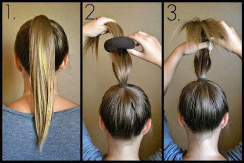 Easy and simple hairbun for medium length hair