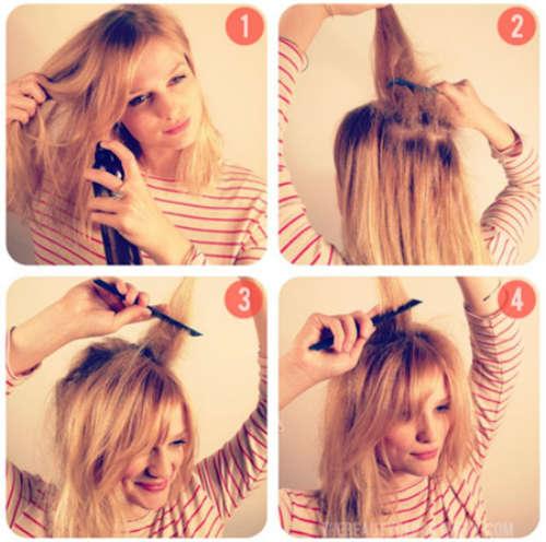 Easy hairstyle for medium length hair shell bun
