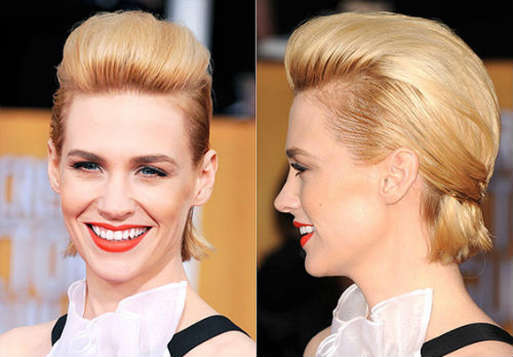 Hairstyle for smooth short hair