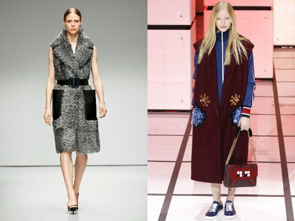 Fashionable sleeveless coats